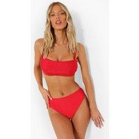 Womens Essentials Fuller Bust Bikini Crop Top - Red - 34F, Red