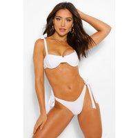 Womens Mix & Match Fuller Bust Underwire Tie Bikini Top - White - 34E, White