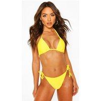 Womens Basic Triangle Bikini - Yellow - 16, Yellow