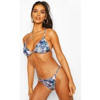 Womens Tropical Print Triangle Bikini - Pink - 12, Pink