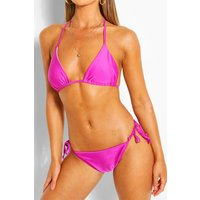 Womens Mix & Match Triangle Bikini Top - Purple - 14, Purple