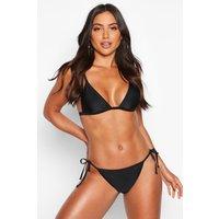 Womens Mix & Match Tie Side Bikini Brief - black - 14, Black