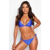 Womens Mix & Match Tie Side Bikini Brief - blue - 16, Blue