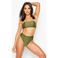 Womens Mix & Match Bandeau Bikini Top - Green - 12, Green