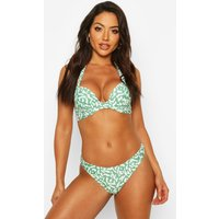 Womens Mix & Match Leopard Push Up Underwired Top - White - 10, White
