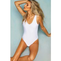 Womens Scoop Back Swimsuit - White - 6, White