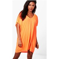 jersey Beach Cover Up - orange