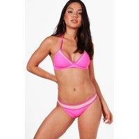 Moulded Triangle Mesh Insert Bikini - pink