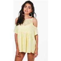 Embellished Beach Dress - yellow