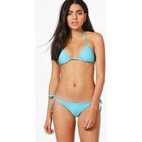Triangle Bikini Set - blue