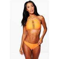 Strappy Ladder Crop Bikini - orange