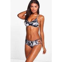 Marble Print Triangle Bikini Top - multi