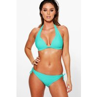 Mix And Match Moulded Triangle Bikini Top - turquoise