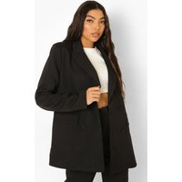 Womens Tall Double Breasted Blazer - Black - 14, Black