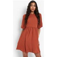 Womens Tall Woven Smock Dress - Orange - 6, Orange