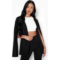 Womens Tall Tailored Cape Blazer - Black - 10, Black