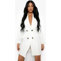 Womens Tall Chiffon Sleeve Woven Blazer Dress - White - 14, White