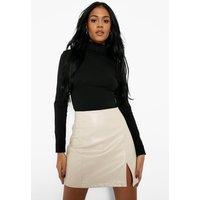 Womens Tall Basic Roll Neck Long Sleeve Bodysuit - Black - 18, Black