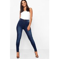 Womens Tall Mid Rise Skinny Jeans - Blue - 16, Blue