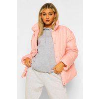 Womens Tall Puffer Jacket - Pink - 8, Pink