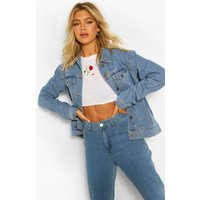 Womens Tall Oversized Denim Jacket - Blue - 16, Blue