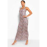 Womens Tall Leopard Print Maxi Dress - Multi - 12, Multi
