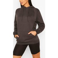 Womens Tall Basic Charcoal Grey Hoody - M, Grey