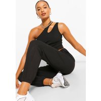 Womens Tall Casual Rib Joggers - Black - 14, Black