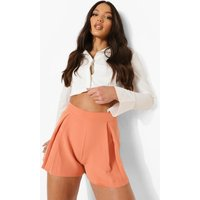 Womens Tall Woven Tailored Pleated Shorts - Pink - 18, Pink