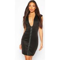 Womens Tall Corset Blazer Dress - Black - 12, Black