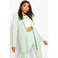 Womens Tall Edge To Edge Woven Blazer - green - 8, Green