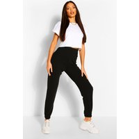 Womens Tall Quilted Jersey Joggers - Black - 16, Black