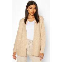 Womens Tall Soft Knit Edge to Edge Cardigan - beige - XS, Beige