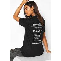 Womens Tall 'Instruction' Slogan T-Shirt - black - M, Black