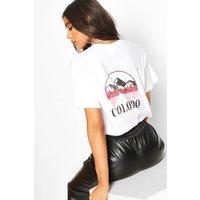Womens Tall 'Colorado' Graphic T-Shirt - white - L, White