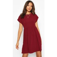 Womens Tall Soft Rib Smock Dress - red - 12, Red