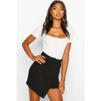 Womens Tall Belted Skort - black - 8, Black
