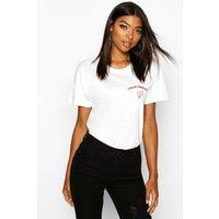 Womens Tall 'Heartbreaker' Slogan T-Shirt - white - M, White