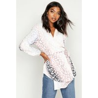 Tall Leopard Ombre Wrap Top