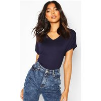 Womens Tall Scoop Neck Basic T-Shirt - navy - 14, Navy