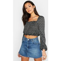 Tall Off The Shoulder Ditsy Floral Peasant Top