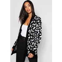 Tall Leopard Print Edge to Edge Cardigan