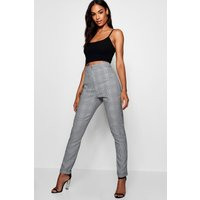 Womens Tall Checked Woven Tailored Trousers - Grey - 6, Grey