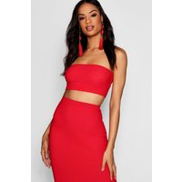 Womens Tall Bandeau Jersey Top - Red - 12, Red