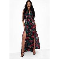 Womens Tall Backless Tropical Maxi Dress - Pink - 8, Pink