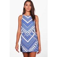 Hayley Woven Sequin Dress - blue