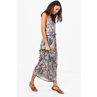 Tall Elise Paisley Print Twisted Maxi Dress