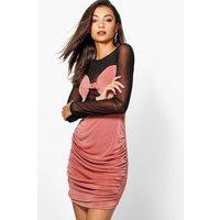 Romi Mesh Insert Midi Dress - rose