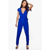 Eliza Woven Jumpsuit - blue