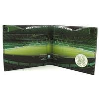 Football Club Stadium Leather Wallet - Celtic